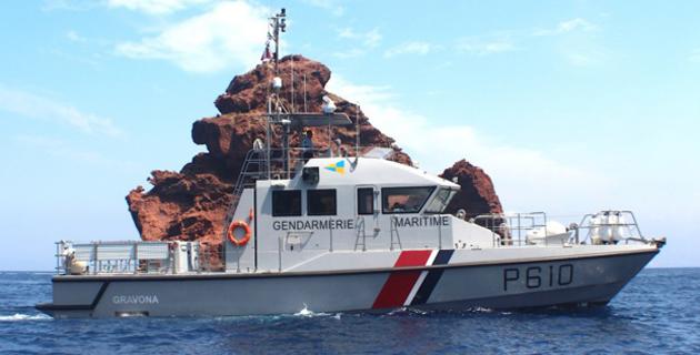La a vedette Gravona de la Gendarmerie maritime