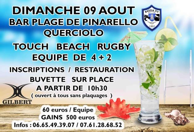 Querciolu se met à l'heure du beach rugby avec Bastia XV