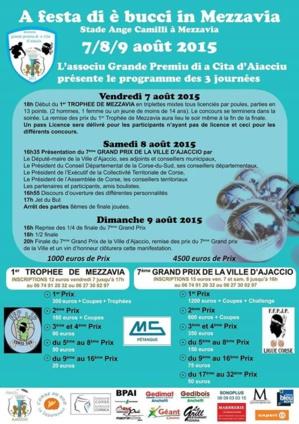 Associu grande premiu di A Cita d'Aiacciu : Trois jours de festivités dédiés aux boules !