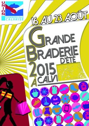 Grande braderie d'été à Calvi du 16 au 23 août