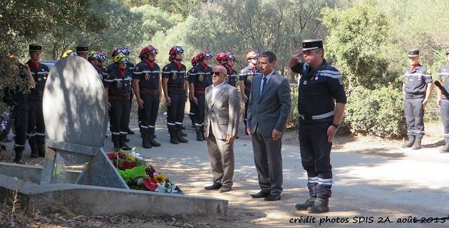 Hommage au Sapeur Patrick Amico sur la commune d'Alata