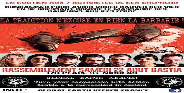 Une manifestation de soutien était prévue à Bastia ce 22 Août