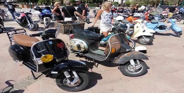 Le beau rassemblement du Scooter club Corsica à Ajaccio