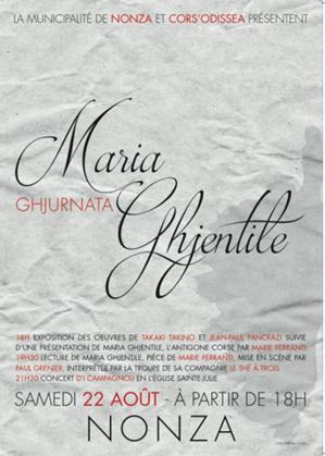 Nonza : Ghjurnata Maria Ghjentile, samedi