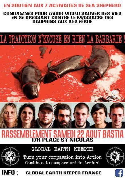 Bastia : Rassemblement de protestation contre le Grind danois !