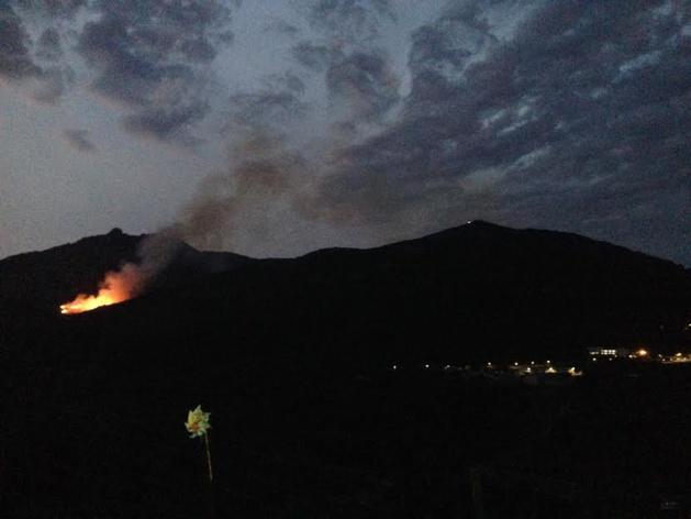 Ajaccio : Incendie sur les hauteurs de Saint Antoine. 5 ha déjà détruits