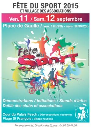 Ajaccio : La Fête du Sport sur la place du Diamant et plage Saint François
