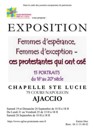 « Femmes d'espérance, Femmes d'exception, ces protestantes qui ont osé »