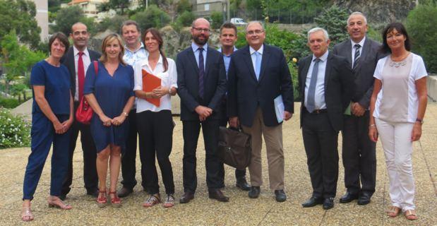Le comité de pilotage de la mission d'étude et de création du parc naturel marin autour du cap Corse.