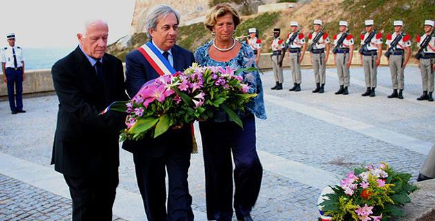 Cérémonie à la stèle du Bataillon de Choc à Calvi pour le 72e anniversaire de la libération de la Corse