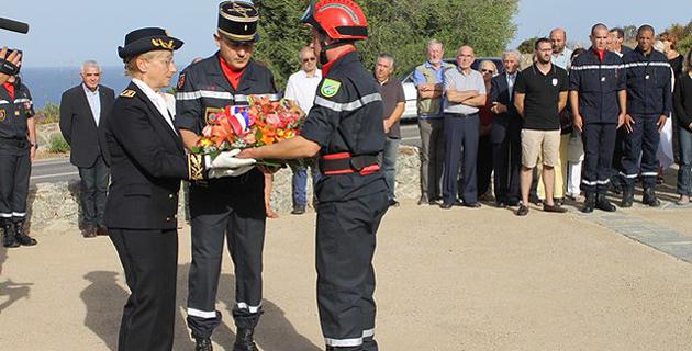Cérémonie  à la mémoire des victimes de l'incendie de Palasca du  17 septembre 2000