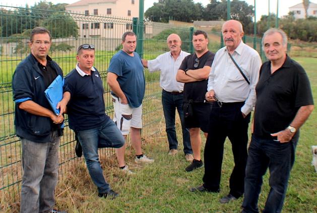 Les dirigeants de Bastia XV autour Alain Del Moro