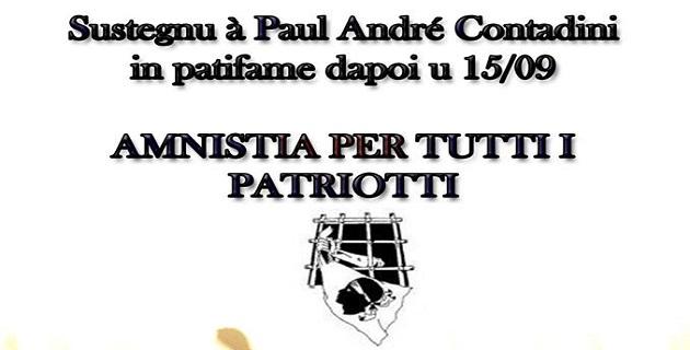 Rassemblement de soutien à Paul André Contadini samedi à Ajaccio et Bastia