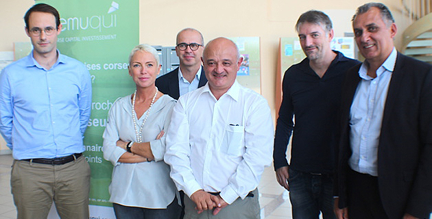 Ghjuvan-Carlu Simeoni, Sandrine Leccia, Charles Vellutini, Jean-Nicola Antoniotti, Sébastien Simoni et Yves de La Roche