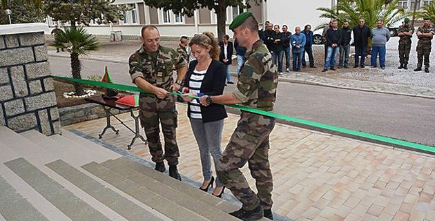 Les premiers hébergements rénovés des légionnaires du 2e REP de Calvi  livrés et inaugurés au camp Raffalli