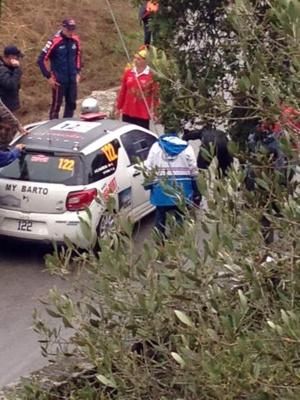 Le pont près de Casaglione a fait deux victimes: le Belge Thierry Neuville et l'équipage cprse Paoli-garcia
