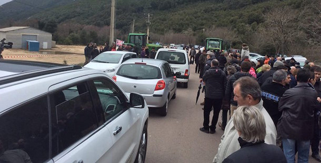 Le 1er mars dernier, un rassemblement contre le projet de centre de tri au pont d'Ucciani avait rassemblé près de 200 personnes (Photo D.R.)