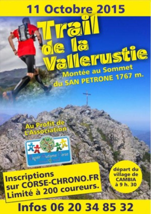 Cambia : 1ère édition du trail de la Vallerustie ce dimanche