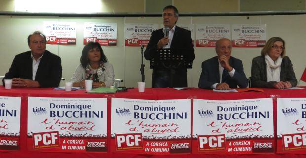 Etienne Bastelica, Nanette Bruni, Mchel Stefani, Dominique Bucchini et Josette Risterucci.