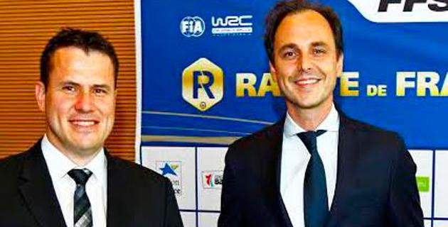 """David Serieys, """"patron"""" du Tour  et Nicolas Deschaux, président de la FFSA"""