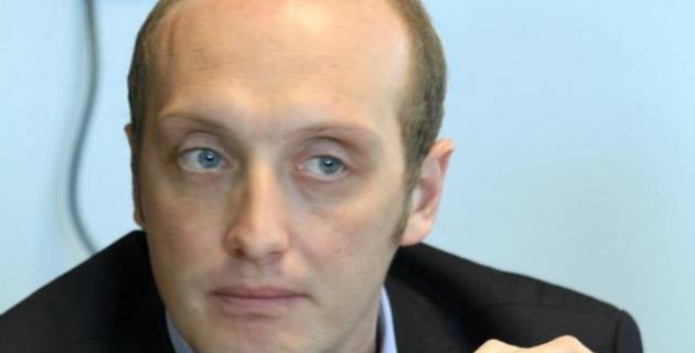 Laurent Marcangeli, député-maire d'Ajaccio (Les Républicains), candidat sur la liste de José Rossi aux élections territoriales des 6 et 13 décembre 2015.