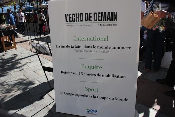 Ajaccio : #2030 sans faim, une action de sensibilisation sur la place du marché