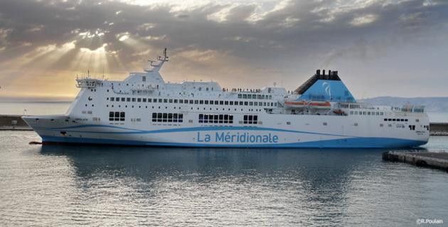 Un ferry de la Meridionale privé de passagers