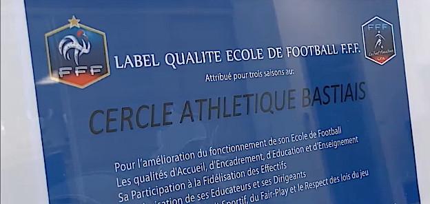 Labelisation de l'école de football du CA Bastia
