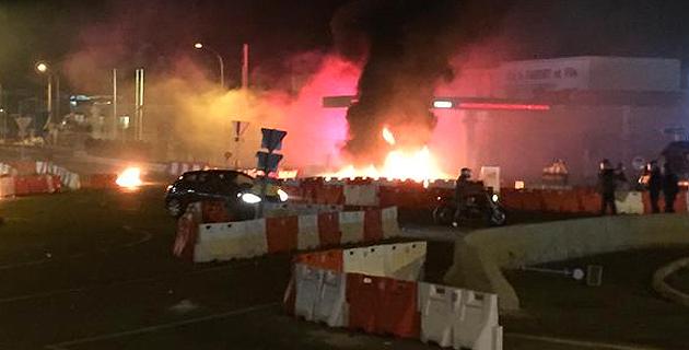 Incidents au rond-point de Furiani après Sporting-PSG