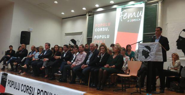Les 51 candidats de la liste Femu a Corsica.