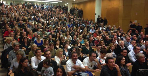 Plus de 600 personnes ont assisté à la présentation de la liste.