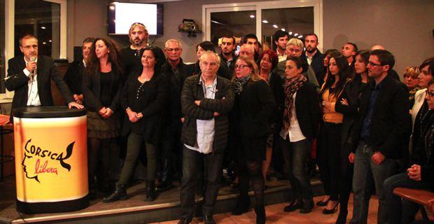 Les 51 candidats de Corsica Libera aux côtés de Jean-Guy Talamoni.