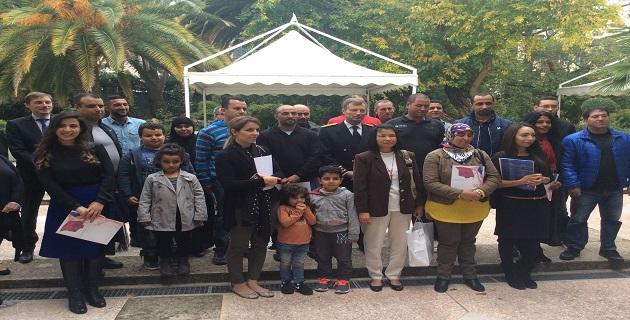 Cérémonie d'accueil dans la citoyenneté française à Ajaccio