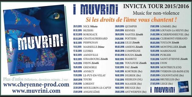 Invicta le nouvel album d'I Muvrini en tournée