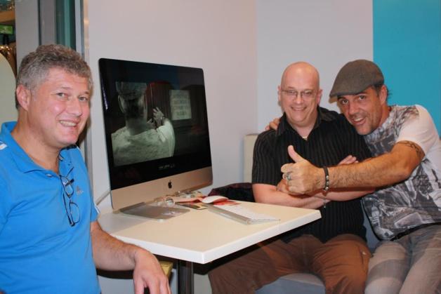 L'équipe à l'origine du projet : Jean-Christophe Pietri, Maurice Bastid, auteur-composition et Marc Geoffroy, scénariste et réalisateur