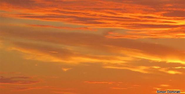 Bastia : Un ciel d'Automne, quatre tableaux différents
