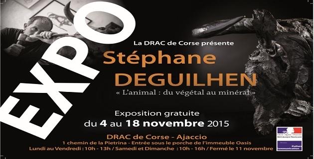 Stéphane Deguilhen expose ses sculptures à la Drac de Corse à Ajaccio