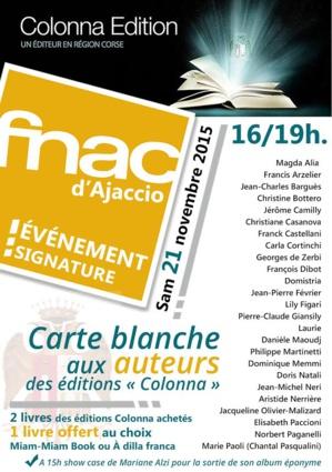 Les Editions Colonna s'exposent à la FNAC Ajaccio