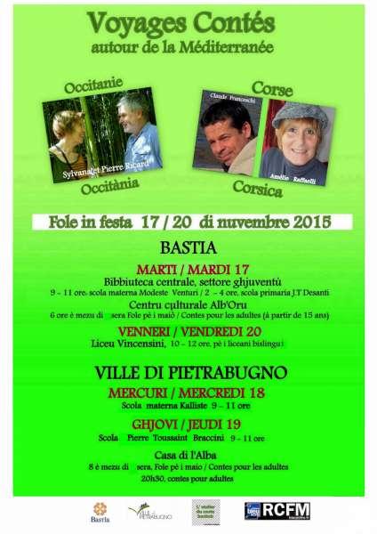 """Bastia : """"Fole in festa"""", des contes pour semer des graines d'humanité"""