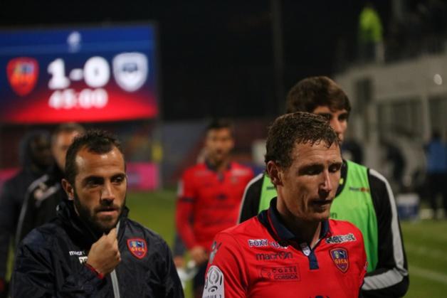 Louis Poggi (à gauche) et le GFCA : Un rendez-vous historique avec la Ligue 1et le Sporting à Furiani. (Photo Marcu-Antone Costa