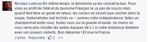 """Marseillaise à Furiani : Déferlement de haine sur internet envers """"les Corses"""""""
