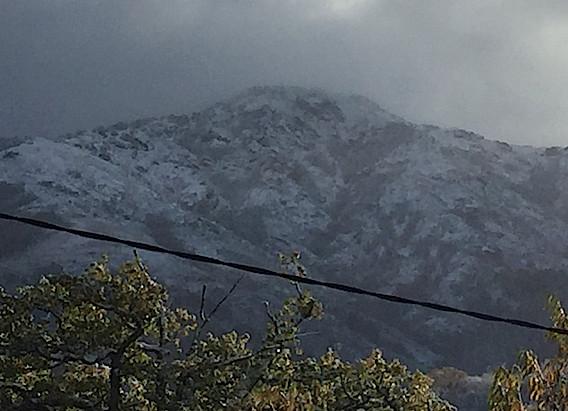 Premières neiges à Bastelica