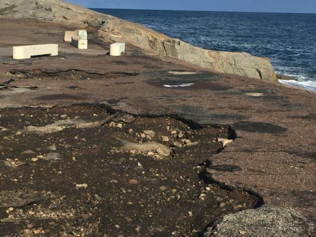Tempête: Importants dégâts derrière la jetée du port de commerce de Calvi