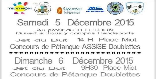Ajaccio : Premier concours de pétanque assise pour le Téléthon