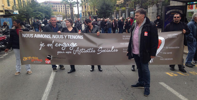 Ajaccio : Les retraités corses et les salariés EDF-CCAS manifestent dans la rue