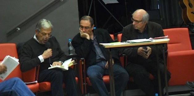 De gauche à droite : Francis Beretti, Alain Di Meglio, Jean-Pierre Castellani