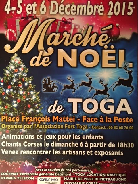 Bastia : Premier marché de Noël de Toga