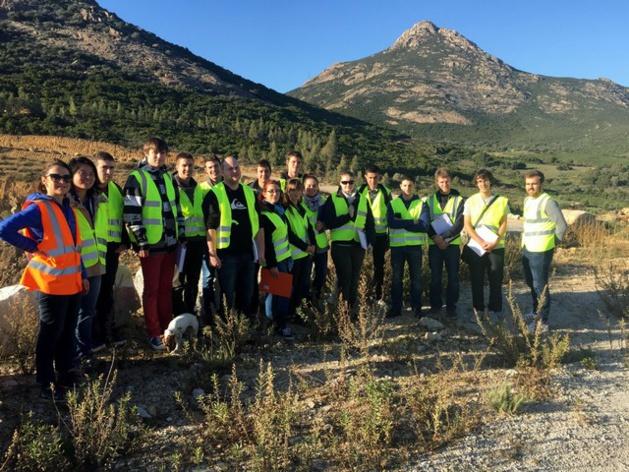 25 étudiants de l'IUT de Corte en visite à la Sablière Calenzana-Balagne
