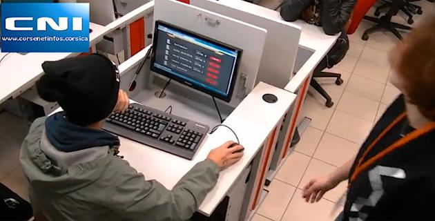 Opération numérique à l'Ecole de la 2ème Chance de Bastia