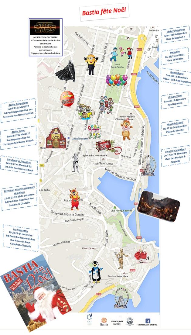 Bastia va s'animer pour les fêtes de Noël